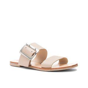 Sol Sana April II Slide Sandals Ecru Size 6 NWB